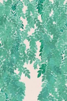 绿色植物树叶春季背景
