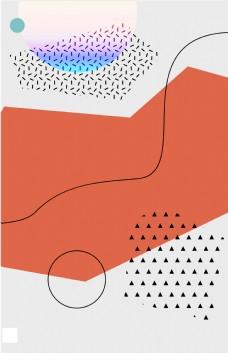 创意不规则几何底纹平面素材