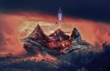 魔幻火山场景