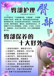 臀部护理海报