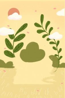 黄色植物背景下载