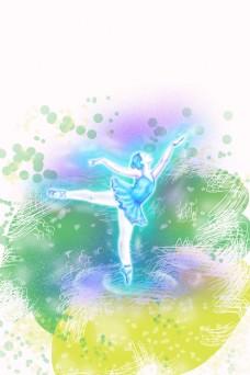 舞蹈跳舞培训班招生平面素材