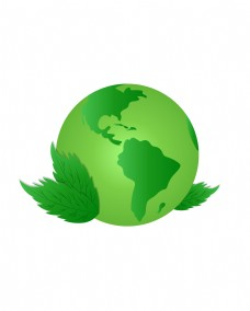矢量地球树木树叶