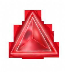 三角形红色宝石插画