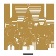 圣诞树的背景材料设计