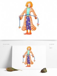 原创愚人节小丑卡通形象