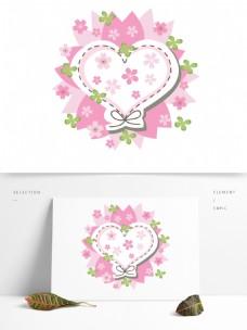 樱花节手绘矢量卡通樱花边框