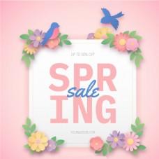 春季销售横幅