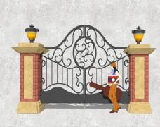 欧式铁艺门
