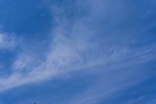 阳光明媚的蓝色天空