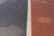 公园跑道特写摄影