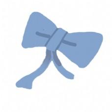 蓝色唯美蝴蝶结灵动美丽漂亮