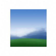 草地通用词蓝天远山草地