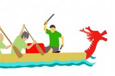 端午节划船的插画