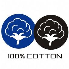 百分之百纯棉标识