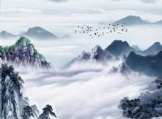 新中式背景墙