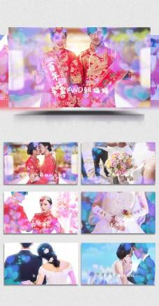 婚庆婚礼大屏幕浪漫花朵pr模板