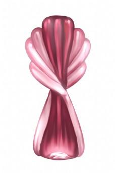 创意粉色玻璃制品