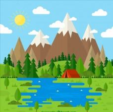 春季风景插画