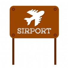 旅行假日飞机场矢量图标免抠图