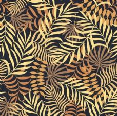 黄色树叶平铺图