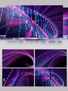 紫色科技唯美绚丽扫光蓝紫特效led背景