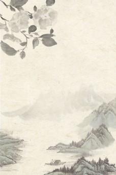 中国风复古工笔画背景模板