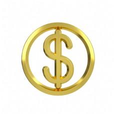 立体金属质感金融类图标钱币