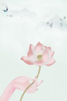中国风素雅工笔画背景
