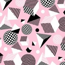 几何球形粉背景图
