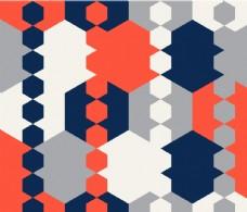 六角形几何背景图案设计