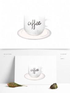 白色咖啡杯子图案