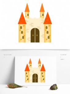 欧式建筑唯美梦幻城堡房地产设计元素
