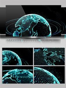粒子空间虚拟现实科技地球背景素材