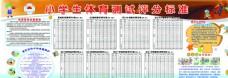 小学生体育测试评分标准表