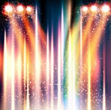 闪耀光效背景舞台光