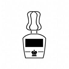 一瓶指甲油图标插画