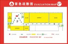 紧急消防通道疏散图