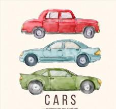 3款水彩绘轿车设计