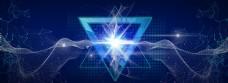 电器科技蓝色光效背景