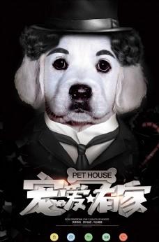 简约大气宠物店创意海报