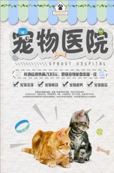 宠物医院促销海报